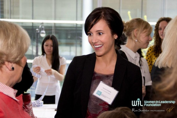 Women networking at a Women in Leadership Conference